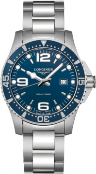 Longines HydroConquest Quartz 39mm Mens watch, model number - L3.640.4.96.6, discount price of £561.00 from The Watch Source