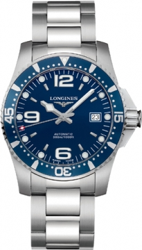 Longines HydroConquest Automatic 41mm Mens watch, model number - L3.642.4.96.6, discount price of £670.00 from The Watch Source