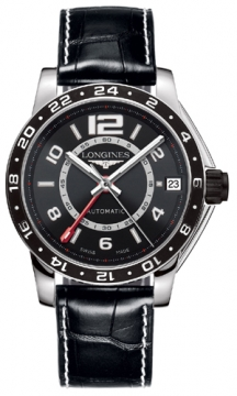 Longines Admiral GMT Mens watch, model number - L3.668.4.56.0, discount price of £1,520.00 from The Watch Source