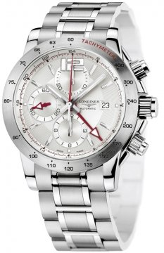 Longines Admiral Chronograph 24 Hour Mens watch, model number - L3.670.4.76.6, discount price of £1,900.00 from The Watch Source