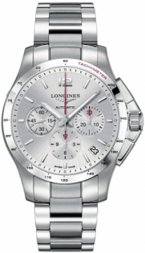 Longines Conquest Automatic Chronograph 44.5mm Mens watch, model number - L3.697.4.76.6, discount price of £1,505.00 from The Watch Source