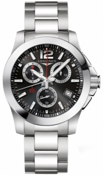 Longines Conquest Quartz Chronograph Mens watch, model number - L3.700.4.56.6, discount price of £875.00 from The Watch Source