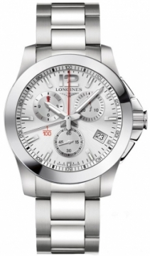 Longines Conquest Quartz Chronograph Mens watch, model number - L3.700.4.76.6, discount price of £875.00 from The Watch Source