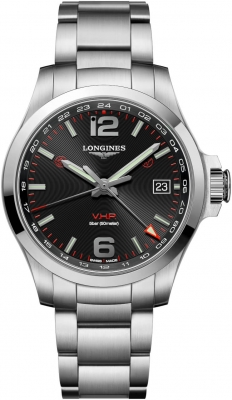 Longines Conquest V.H.P. GMT 41mm L3.718.4.56.6 watch