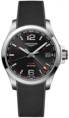 Longines Conquest V.H.P. GMT 41mm L3.718.4.56.9 watch