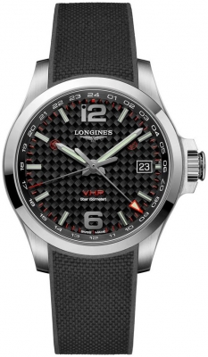 Longines Conquest V.H.P. GMT 41mm L3.718.4.66.9 watch