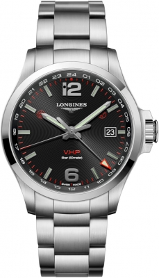 Longines Conquest V.H.P. GMT 43mm L3.728.4.56.6 watch