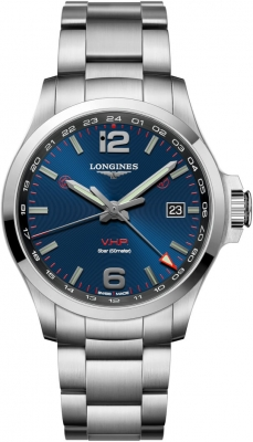 Longines Conquest V.H.P. GMT 43mm L3.728.4.96.6 watch