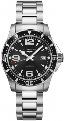 Buy this new Longines HydroConquest Quartz 39mm L3.730.4.56.6 mens watch for the discount price of £680.00. UK Retailer.