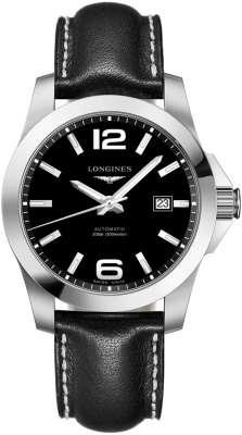 Buy this new Longines Conquest Automatic 41mm L3.777.4.58.3 mens watch for the discount price of £882.00. UK Retailer.