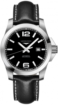 Buy this new Longines Conquest Automatic 43mm L3.778.4.58.3 mens watch for the discount price of £882.00. UK Retailer.