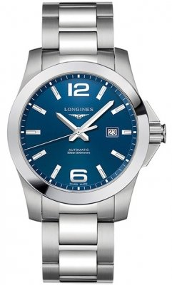 Buy this new Longines Conquest Automatic 43mm L3.778.4.96.6 mens watch for the discount price of £833.00. UK Retailer.