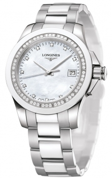 Longines Conquest Quartz 35mm Ladies watch, model number - L3.281.0.87.7, discount price of £1,170.00 from The Watch Source