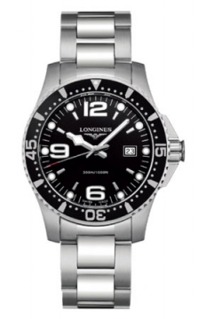 Longines HydroConquest Quartz 39mm Mens watch, model number - L3.640.4.56.6, discount price of £561.00 from The Watch Source