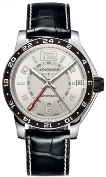 Longines Admiral GMT Mens watch, model number - L3.668.4.76.0, discount price of £1,520.00 from The Watch Source