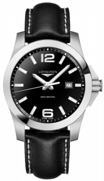 Buy this new Longines Conquest Quartz 43mm L3.760.4.56.3 mens watch for the discount price of £561.00. UK Retailer.