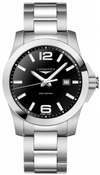 Buy this new Longines Conquest Quartz 43mm L3.760.4.56.6 mens watch for the discount price of £561.00. UK Retailer.
