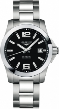 Buy this new Longines Conquest Automatic 39mm L3.776.4.58.6 mens watch for the discount price of £833.00. UK Retailer.