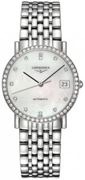 Longines Elegant Automatic 34.5mm Midsize watch, model number - L4.809.0.87.6, discount price of £2,605.00 from The Watch Source