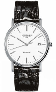 Buy this new Longines Presence Automatic 38.5mm L4.921.4.12.2 mens watch for the discount price of £833.00. UK Retailer.