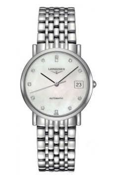 Longines Elegant Automatic 34.5mm Midsize watch, model number - L4.809.4.87.6, discount price of £1,085.00 from The Watch Source