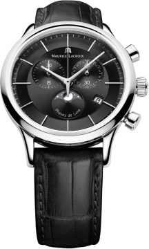 Maurice Lacroix Les Classiques Chronograph Phase de Lune Mens watch, model number - lc1148-ss001-331, discount price of £780.00 from The Watch Source