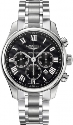 Longines Master Automatic Chronograph 44mm L2.859.4.51.6 watch