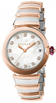 Bulgari Lucea Automatic 33mm Ladies watch, model number - lu33wspgspgd/11, discount price of £6,618.00 from The Watch Source