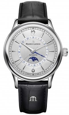 Buy this new Maurice Lacroix Les Classiques Moonphase LC6168-SS001-120-1 mens watch for the discount price of £1,656.00. UK Retailer.