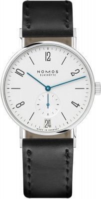 Nomos Glashutte Tangente 38 Datum 37.5mm 130 watch