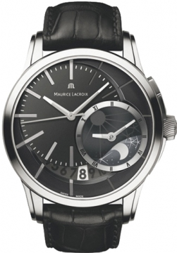 Maurice Lacroix Pontos Decentrique GMT Mens watch, model number - pt6118-ss001-330, discount price of £3,360.00 from The Watch Source
