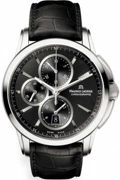 Maurice Lacroix Pontos Automatic Chronograph Mens watch, model number - pt6188-ss001-330, discount price of £2,280.00 from The Watch Source