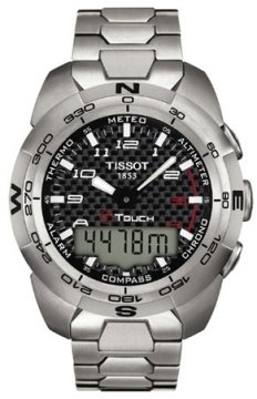 Tissot T-Tactile, T-Touch Mens watch, model number - T0134204420200, discount price of £590.00 from The Watch Source