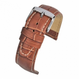 Strap 18mm TAN SUPER CROC GRAIN W/ NBUCK TSCGWNB18MM watch