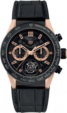Buy this new Tag Heuer Carrera Calibre HEUER 02T Tourbillon Chronograph 45mm car5a5y.fc6377 mens watch for the discount price of £16,570.00. UK Retailer.