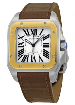 Cartier Santos 100 Large Mens watch, model number - w20072x7, discount price of £6,585.00 from The Watch Source