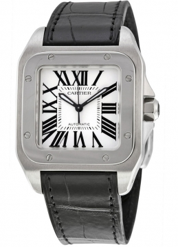 Cartier Santos 100 Medium Midsize watch, model number - w20106x8, discount price of £3,910.00 from The Watch Source