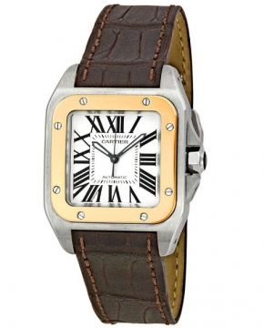 Cartier Santos 100 Medium Midsize watch, model number - w20107x7, discount price of £5,310.00 from The Watch Source