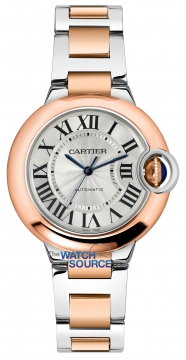 Buy this new Cartier Ballon Bleu 33mm w2bb0023 ladies watch for the discount price of £7,965.00. UK Retailer.