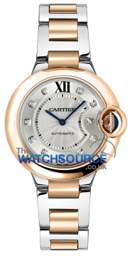 Buy this new Cartier Ballon Bleu 33mm w3bb0006 ladies watch for the discount price of £9,180.00. UK Retailer.