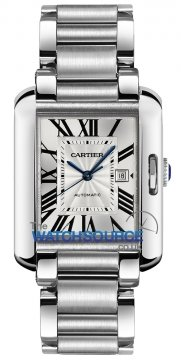 Buy this new Cartier Tank Anglaise Medium Automatic W5310009 ladies watch for the discount price of £4,905.00. UK Retailer.