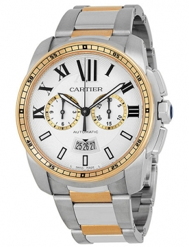 Cartier Calibre de Cartier Chronograph Mens watch, model number - W7100042, discount price of £11,340.00 from The Watch Source