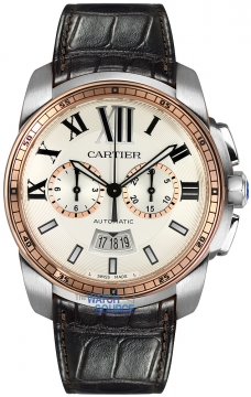 Cartier Calibre de Cartier Chronograph Mens watch, model number - W7100043, discount price of £10,170.00 from The Watch Source