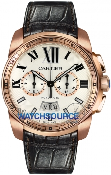 Cartier Calibre de Cartier Chronograph Mens watch, model number - W7100044, discount price of £20,152.00 from The Watch Source