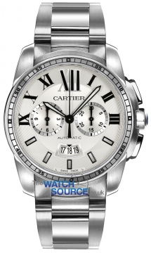 Buy this new Cartier Calibre de Cartier Chronograph W7100045 mens watch for the discount price of £8,370.00. UK Retailer.