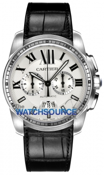 Cartier Calibre de Cartier Chronograph Mens watch, model number - W7100046, discount price of £7,380.00 from The Watch Source