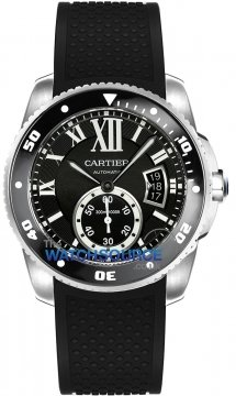 Buy this new Cartier Calibre de Cartier Diver w7100056 mens watch for the discount price of £6,120.00. UK Retailer.