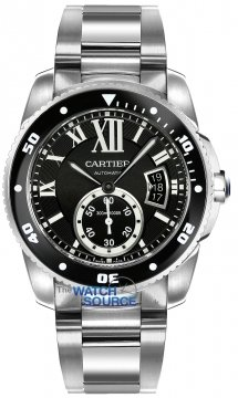 Cartier Calibre de Cartier Diver Mens watch, model number - w7100057, discount price of £6,165.00 from The Watch Source