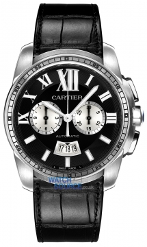 Buy this new Cartier Calibre de Cartier Chronograph W7100060 mens watch for the discount price of £7,920.00. UK Retailer.