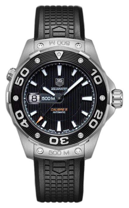 Buy this new tag heuer aquaracer automatic 500m calibre 5 mens watch for the for Tag heuer discount